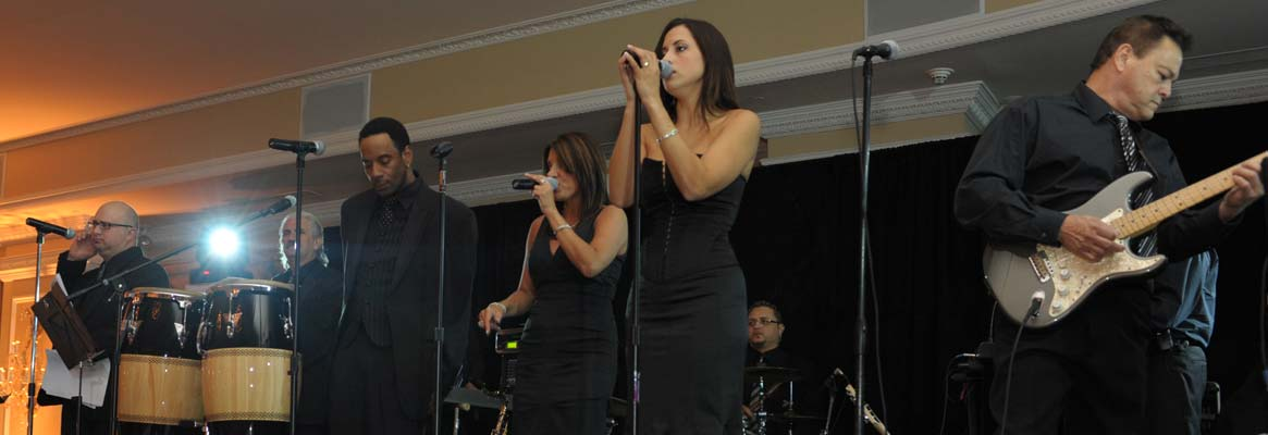 Live band performing at private milestone celebration event