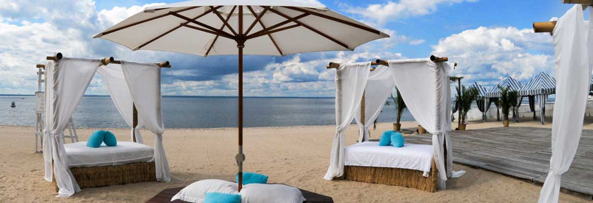 Outdoor beachfront furniture rentals for milestone celebration events