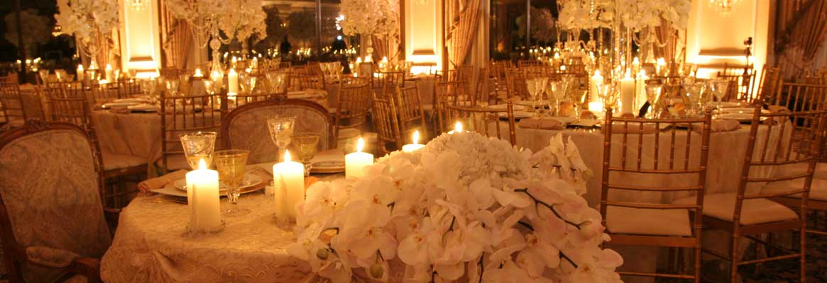 Ambient and cozy lighting design makes your wedding venue and truly special place