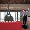 French Mime performers entertaining attendees at check in at Verizon Corporate event
