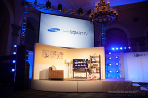 Custom staging for samsung corporate event