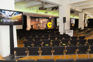 Custom staging for NYC event