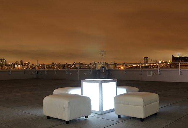 nyc skyline ottoman white lounge illuminated furniture
